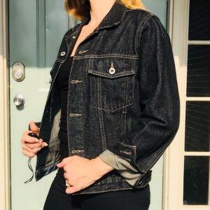 Authentic Vintage Guess Black Wash Denim Jacket M